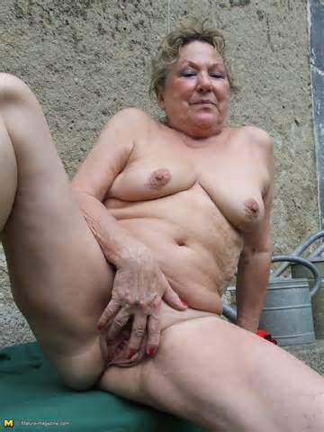 Sexy And Kinky Gardener Granny