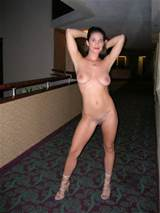 Tits Brunette Exhibitionist Hotel Natural Nipples Nude Pussy Shaved