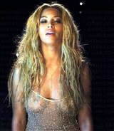Beyonce In A See Through Shirt Shows Some Nipples
