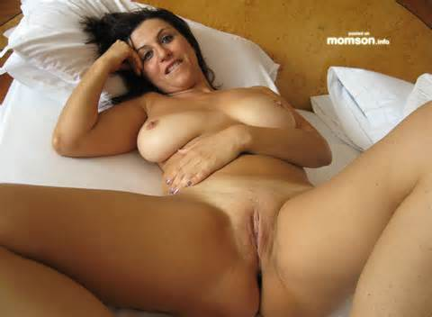 Mom Spreads Her Legs Showing Her Shaved Pussy