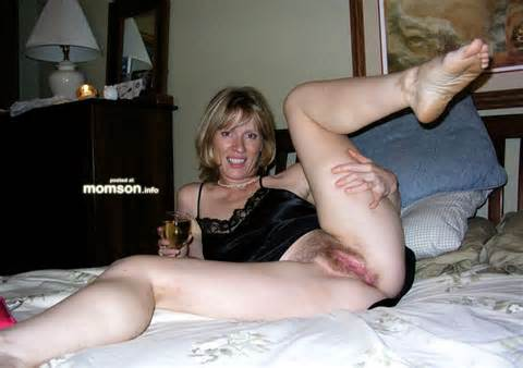 Drunk Mom Showing Her Wet And Hairy Vagina