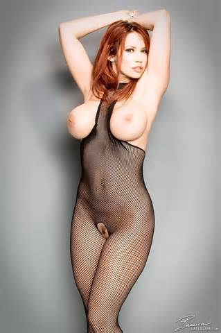 Caption Busty Bianca Beauchamp Big Boobs In Fishnet Bodystocking